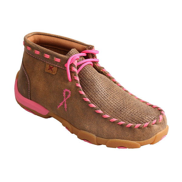 Twisted X Boots Youth Breast Cancer Awareness Driving Mocs YDM0026