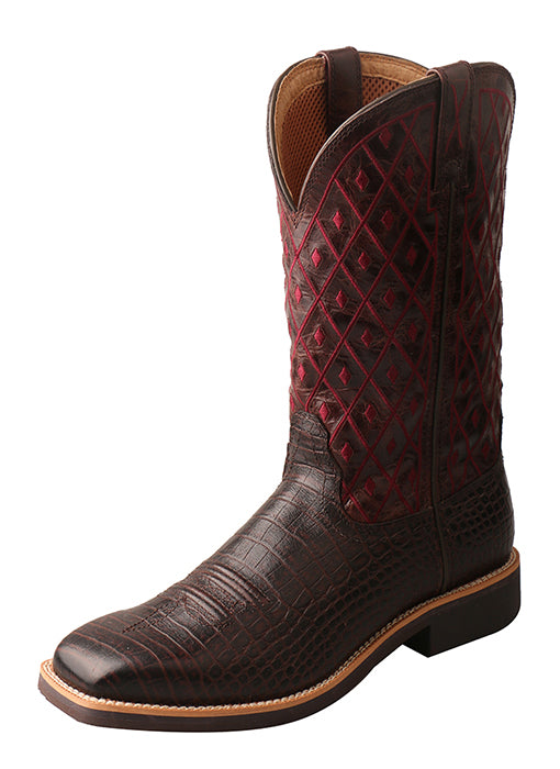 Twisted X Women's Top Hand Boot – Coffee/Burgundy
