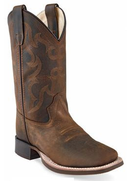 Old West Childrens Leather Cowboy Boot