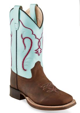 Old West Youth Baby Blue Cowboy Boot BSY1909