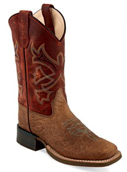 Old West Youth Brown Bull Hide Print with Burnt Red Shaft