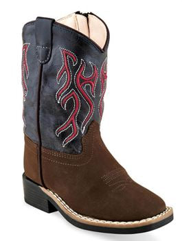 Old West Toddler Blue/Red Cowboy Boots