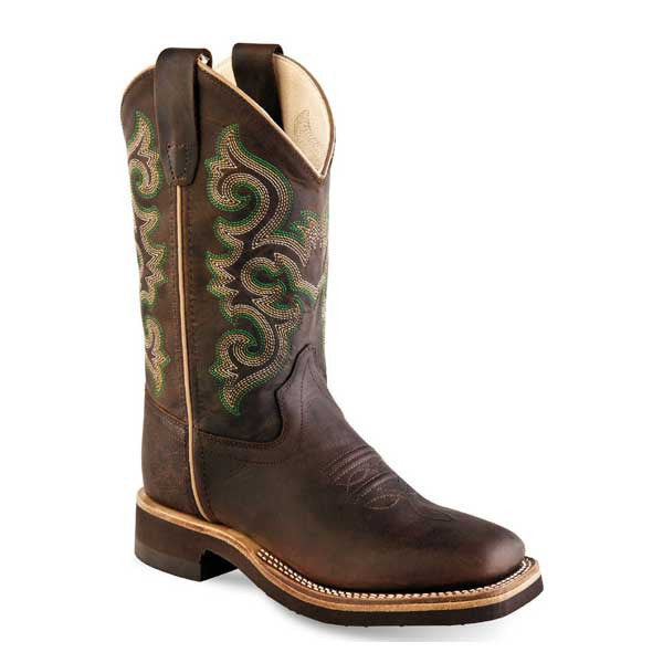 Old West Youth Broad Square Toe Boots    #BSY1822
