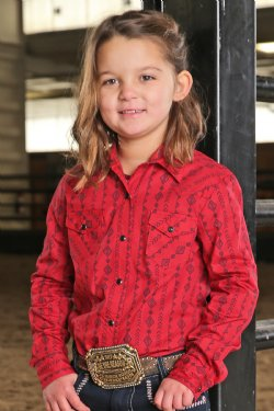 Cruel Girls Red Southwest Stripe Print Western Snap Shirt