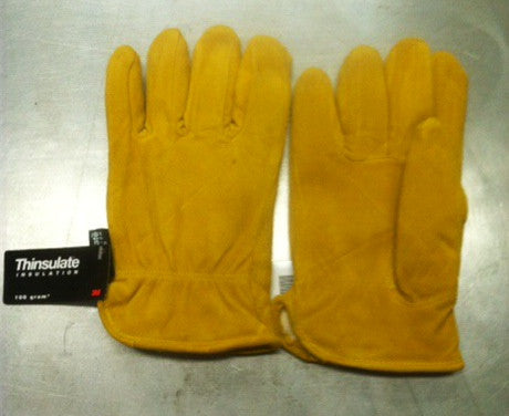 Yellow Deer Split Glove w/ Thinsulate Lining Q-16TL