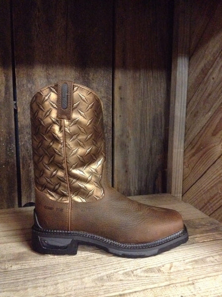 Tony Lama Mens TLX Rust Diamond Plate Composite Toe Work Boot