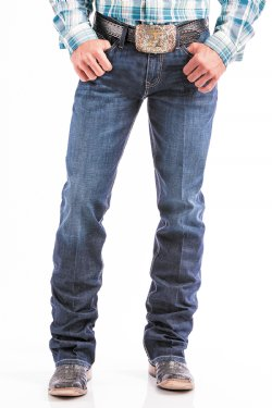 Cinch Mens Ian Slim Fit Performance Denim Dark Stonewash