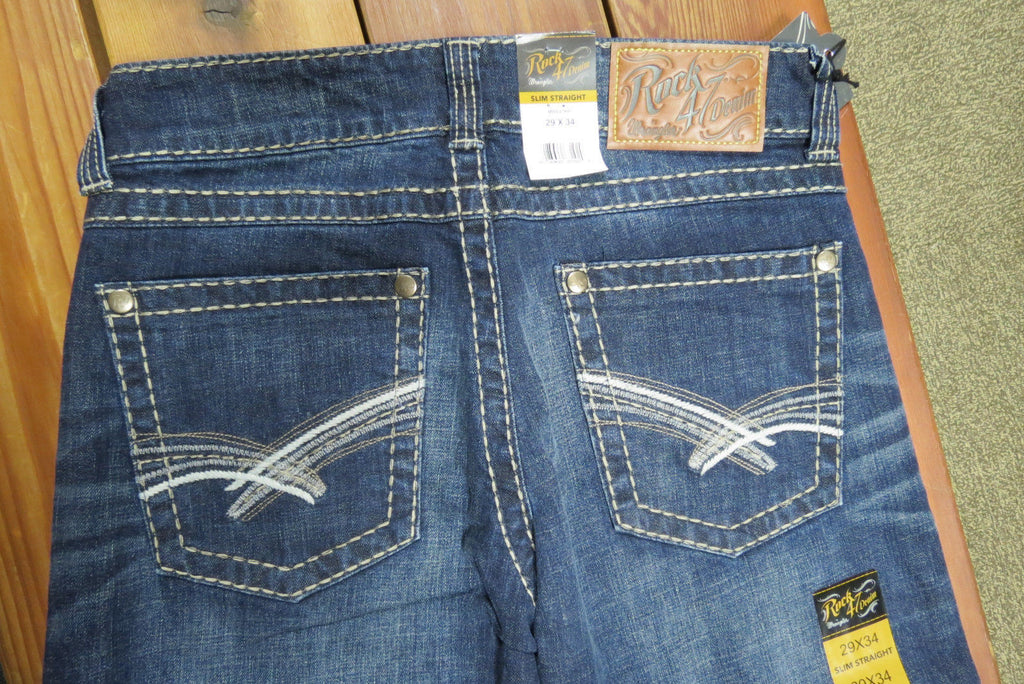 Rock 47 Denim By Wrangler Mens Slim Straight Jean