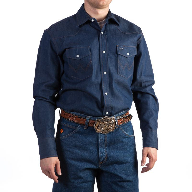 Wrangler Rigid Denim Long Sleeve Workshirt