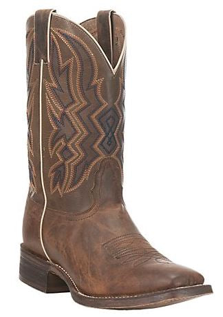 Nocona Mens Brown HERO Collection Double Welt Square Toe Western Boots