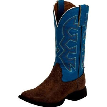 Nocona Kids Chocolate Pebble Cowboy Boot