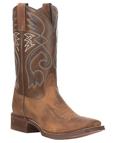 Nocona Womens Tan with Brown Square Toe HERO Western Boots