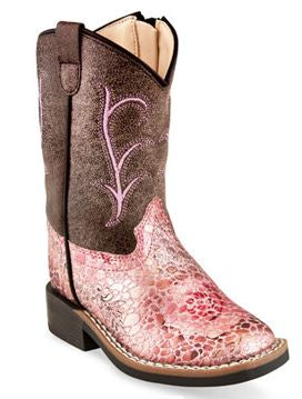 Old West Toddler Pink Cowboy Boots