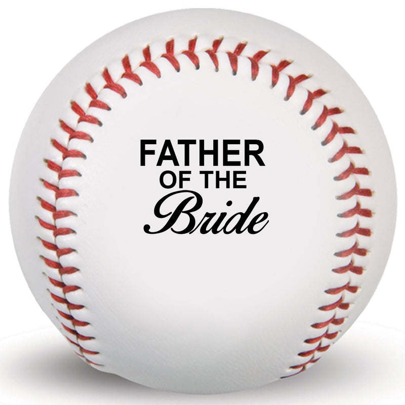 Father of Bride Customized Print Baseball