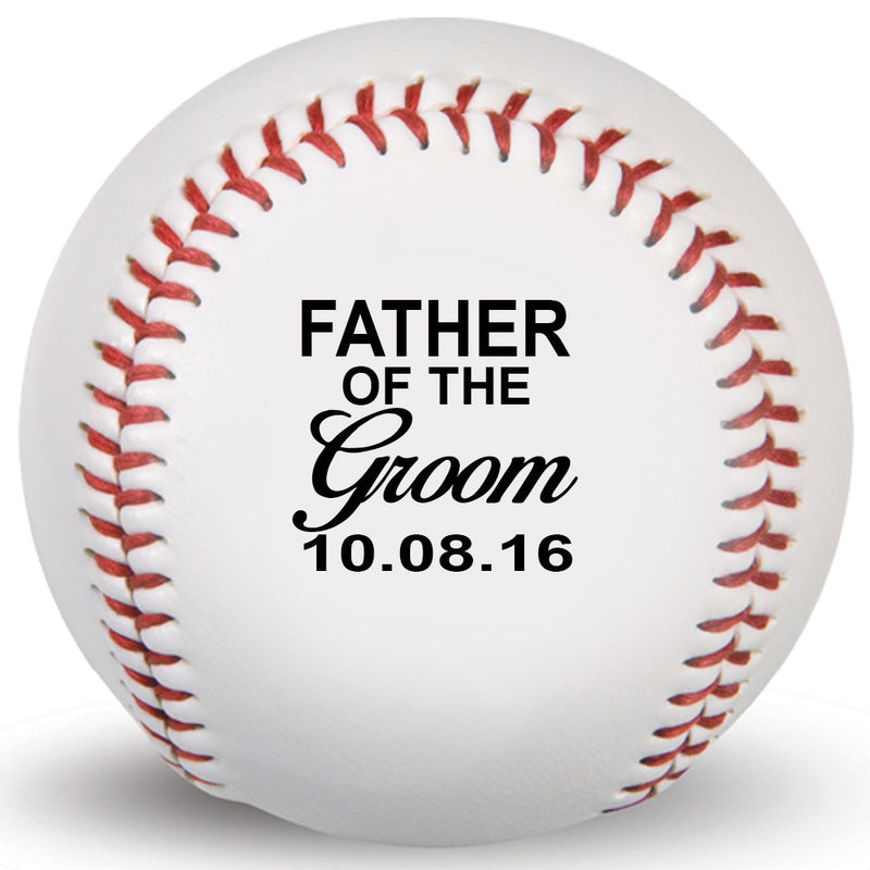 Father of Groom Customized Print Baseball