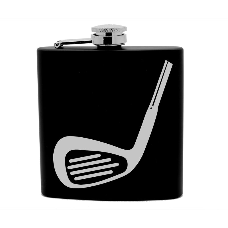 Personalized Flask 6oz Black Stainless Steel Laser Engraved Best Grandpa Ever