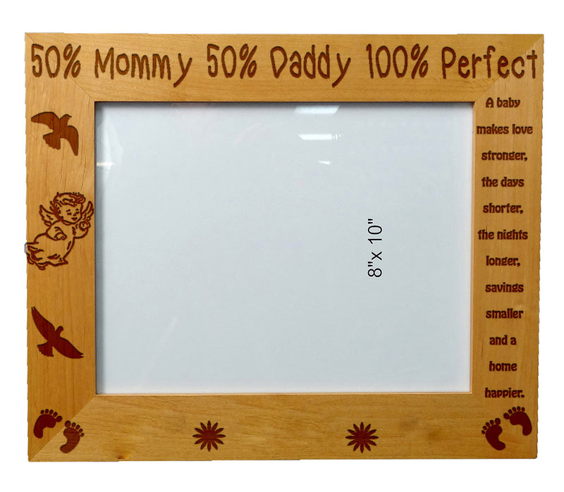 Personalized Wooden Picture Frame 8X10  Mommy Daddy kids quotes