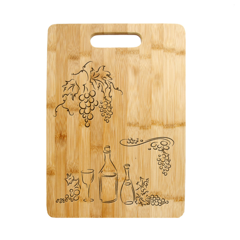 Personalized Laser Engraved Cutting Board,Grapes