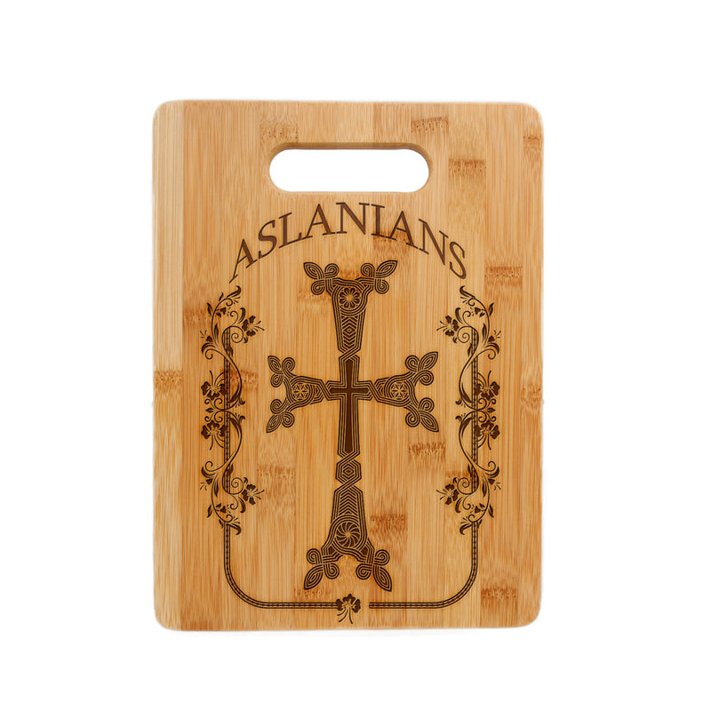 Personalized Laser Engraved Bamboo Cutting Board, Armenian Cross