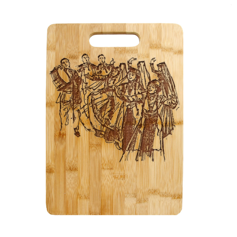 Personalized Laser Engraved Bamboo Cutting Board,Armenian Dancers Wedding