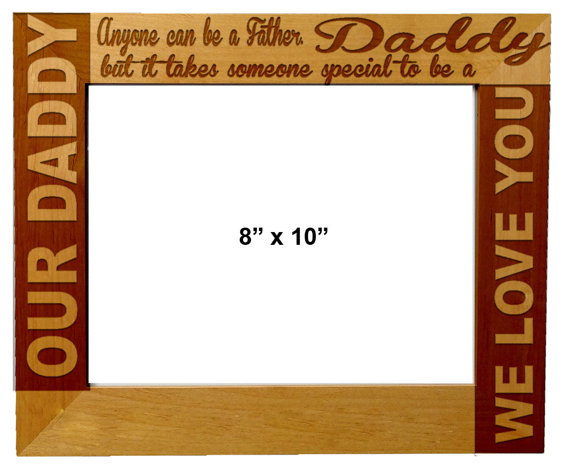 Personalized Laser Engraved Wooden Picture Frame 8X10 Father\'s day ...