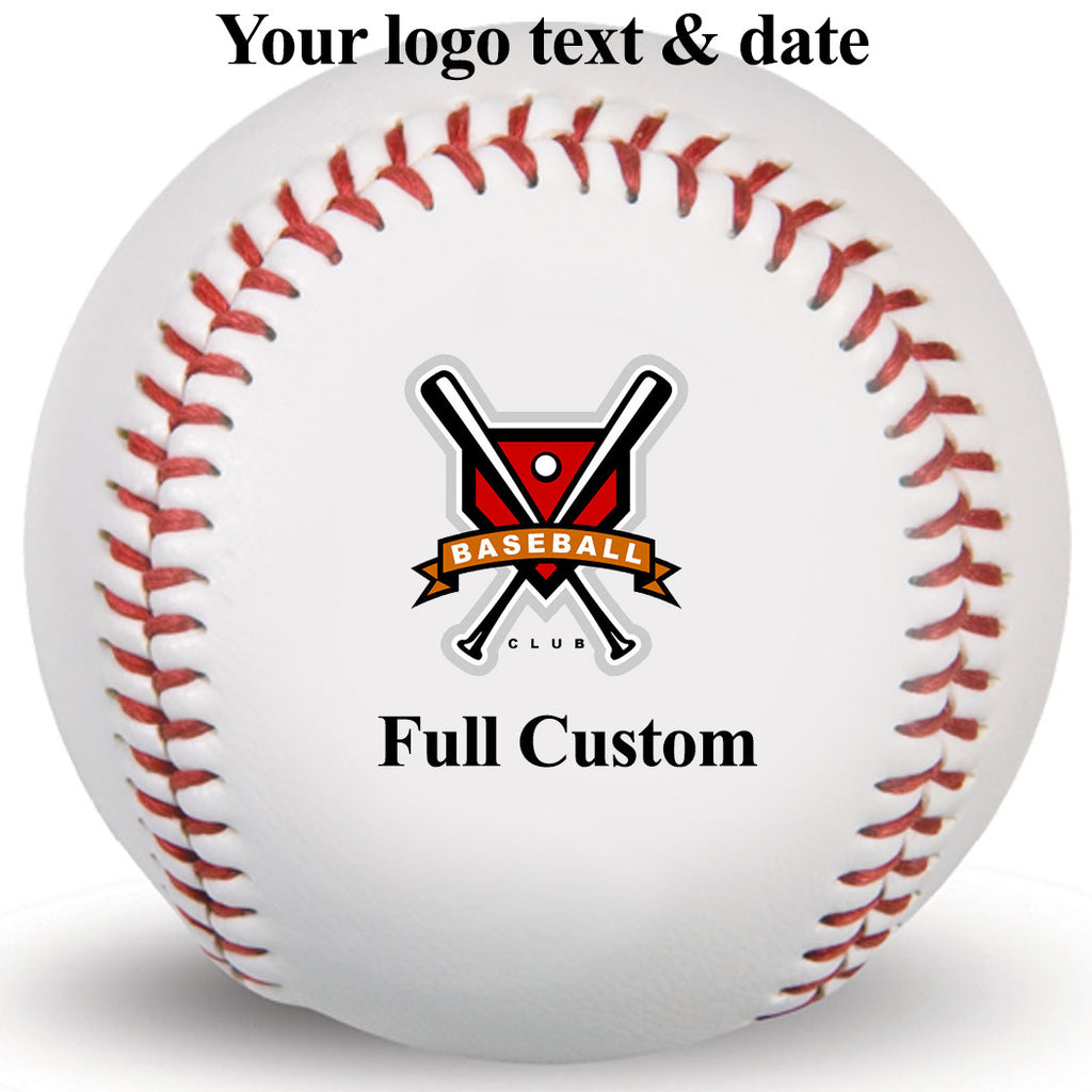 Full custom Your Photo Logo Text and date Customized Print Baseball