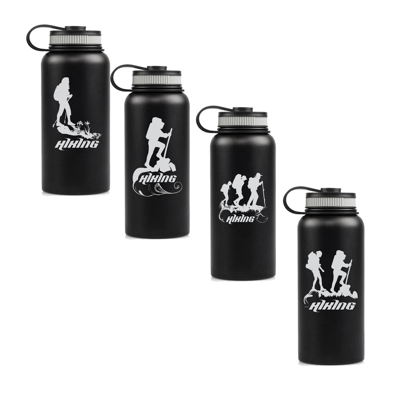 Double Wall Vacuum Insulated Stainless Steel Water Bottle-Thermos- Sport Hiking