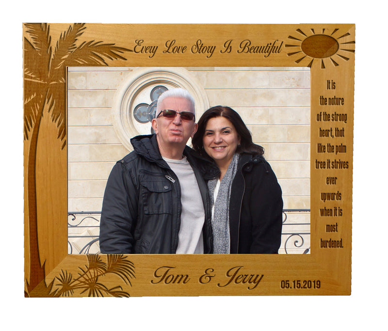 Personalize Customize Engraved Wood Picture Frames – Customize Laser ...