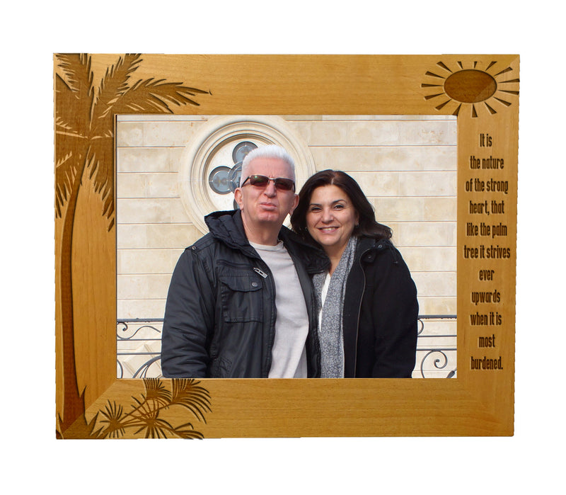 "Every Love Story Is Beautiful Personalized Wooden Picture Frame 8"" x 10"""