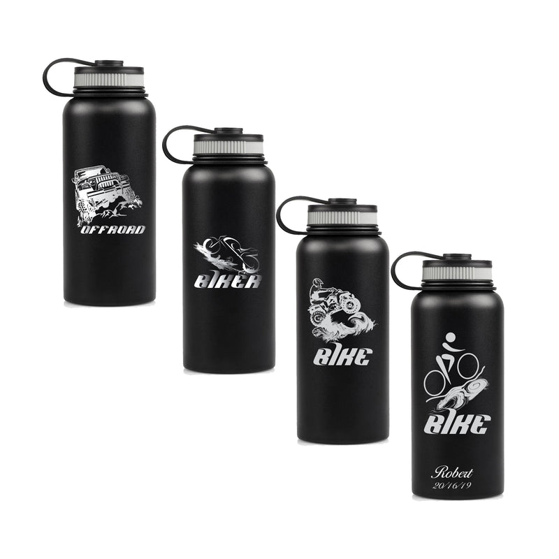 Double Wall Vacuum Insulated Stainless Steel Water Bottle-Thermos- Cycler