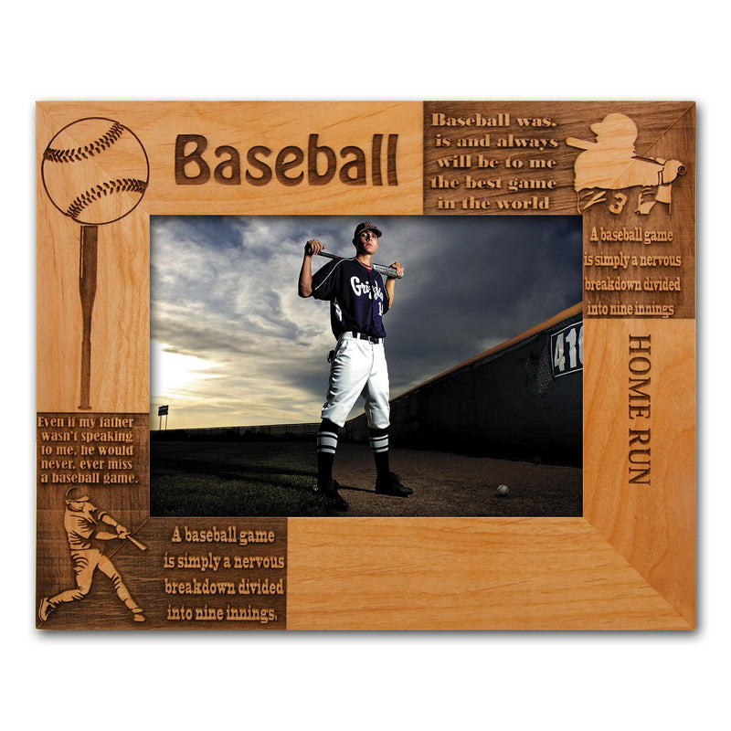 "Personalized Baseball Wooden Picture Frame 8"" x 10"" Baseball Gift"