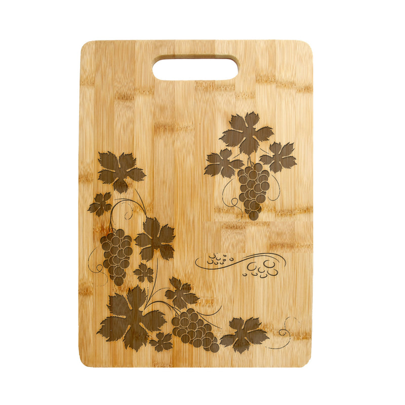 Personalized Laser Engraved Cutting Board, Grapes