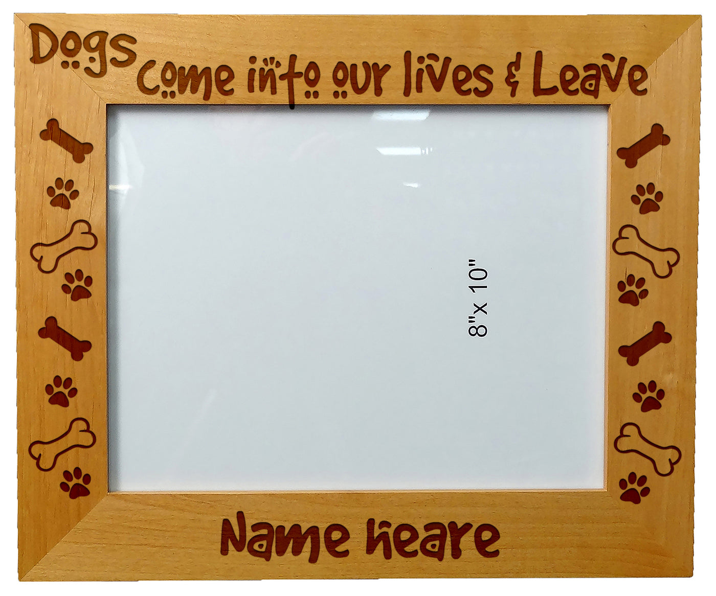 Personalized Laser Engraved Wooden Picture Frame 8 X 10 Dog Lover