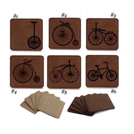 Coaster set of 6, Bike Through History,