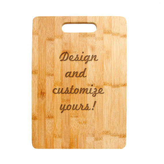 Personalized Laser Engraved Cutting Board, Armenian Design