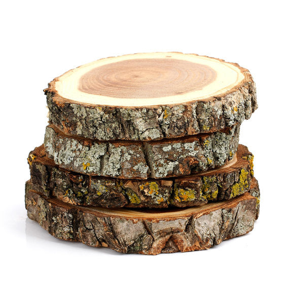 Mandala Ohm Design Tree Bark Coasters,