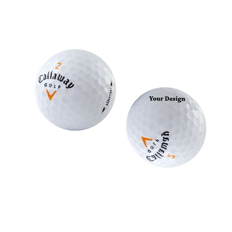 Set of 3 Custom UV Printed Golf Ball - your message here