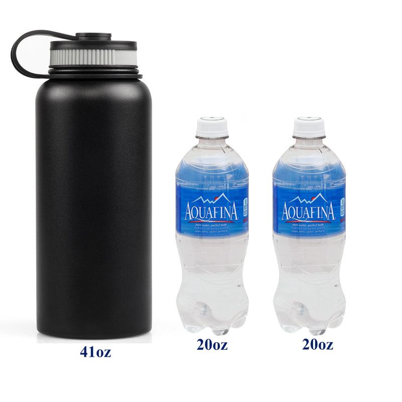 Double Wall Vacuum Insulated Stainless Steel Water Bottle-Thermos- Running,Runner,