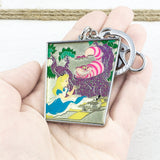 Enamel Keychain | Alice in Wonderland | Alice and Cheshire Cat