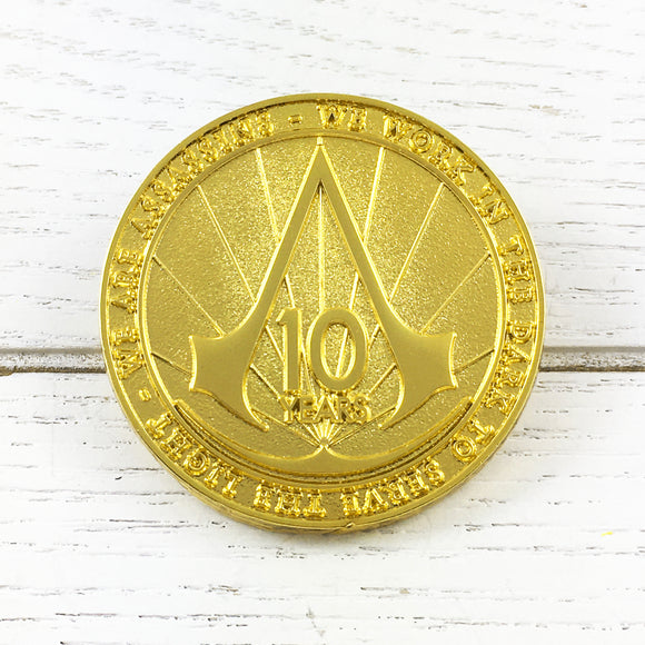 Metal Pin | Assassin's Creed | Golden 10 Years