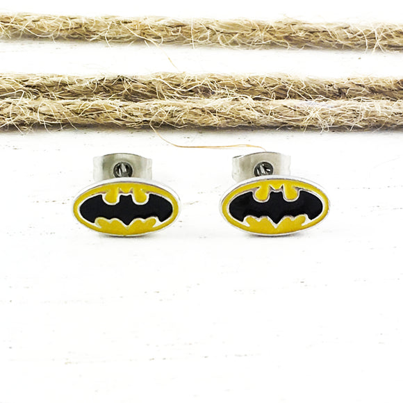 Stud Earrings | Batman | Classic Logo