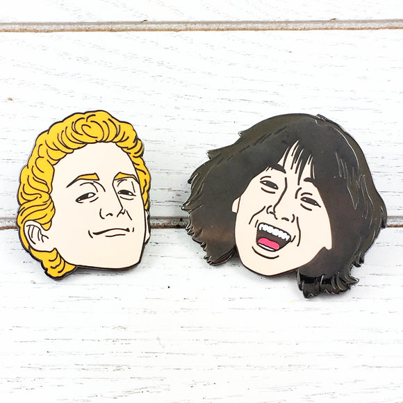 Enamel Pin Set | Bill and Ted's Excellent Adventure | Bill and Ted
