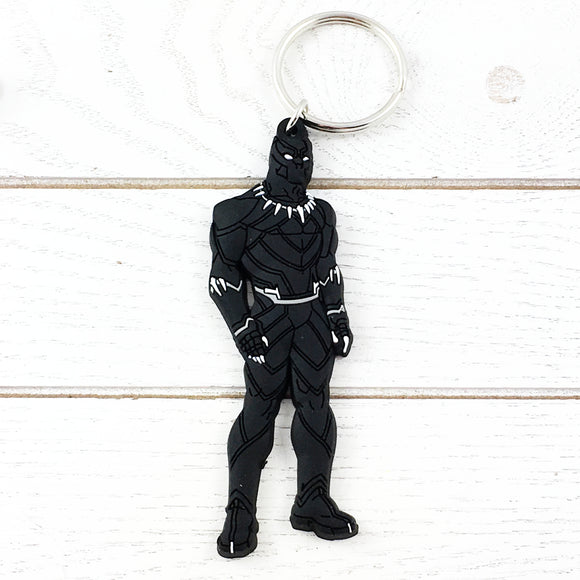 Soft Plastic Keychain | Black Panther