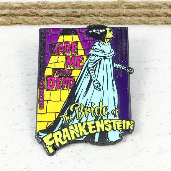 Glow-in-the-dark Pin | The Bride of Frankenstein