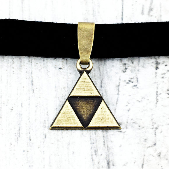 Choker Necklace | Bronze Triangle