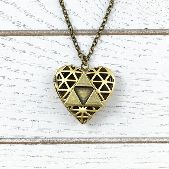 Médaillon | Coeur & triangle bronze