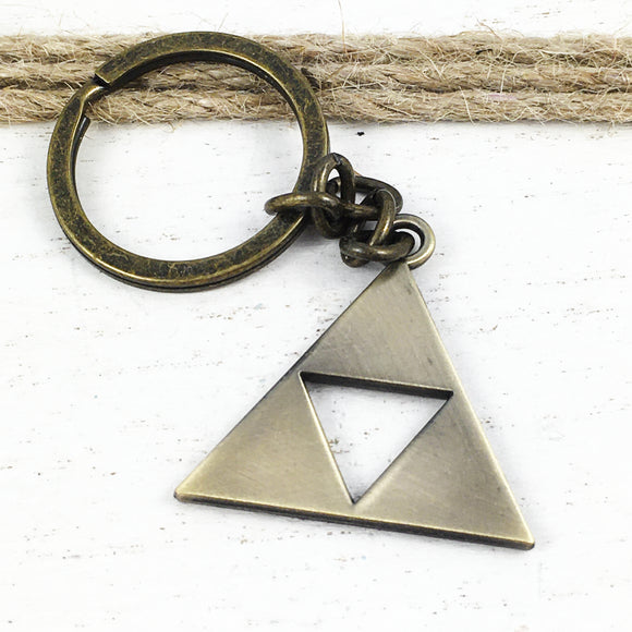 Metal Keychain | Bronze Triangle
