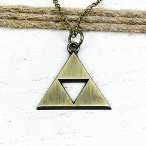Necklace | Bronze Triangle (large)
