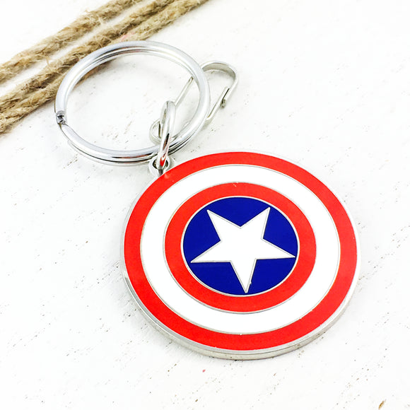 Enamel Keychain | Captain America | Shield