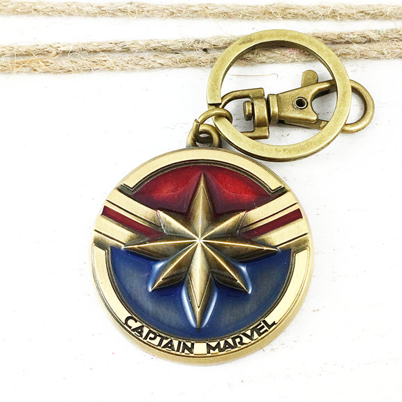 Pewter Keychain | Captain Marvel